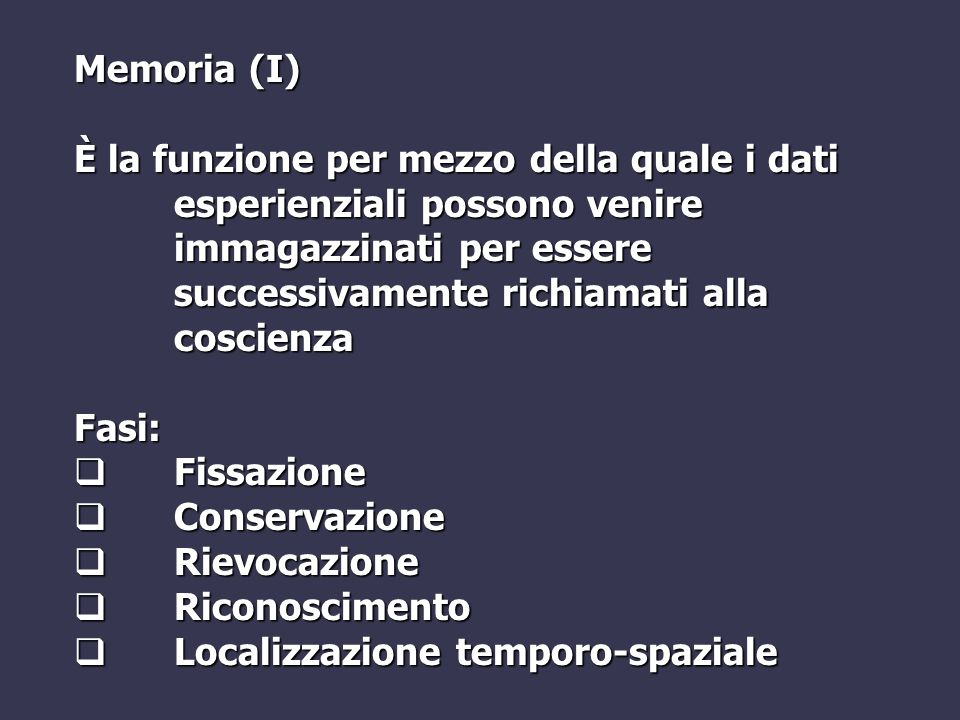 Memoria (I)