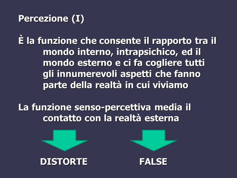 Percezione (I)