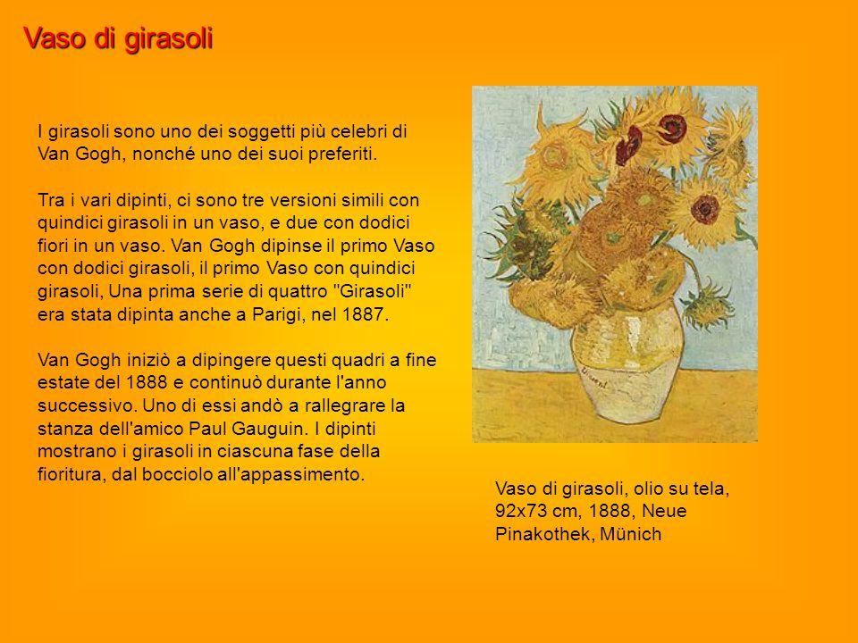 Vaso di girasoli I girasoli sono uno dei soggetti più celebri di Van Gogh, nonché uno dei suoi preferiti.