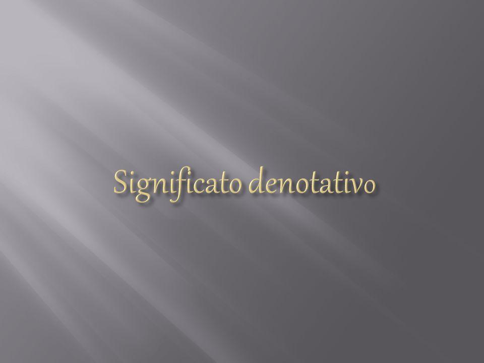 Significato denotativo