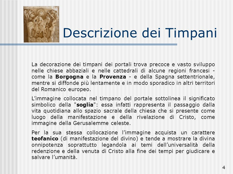Descrizione dei Timpani