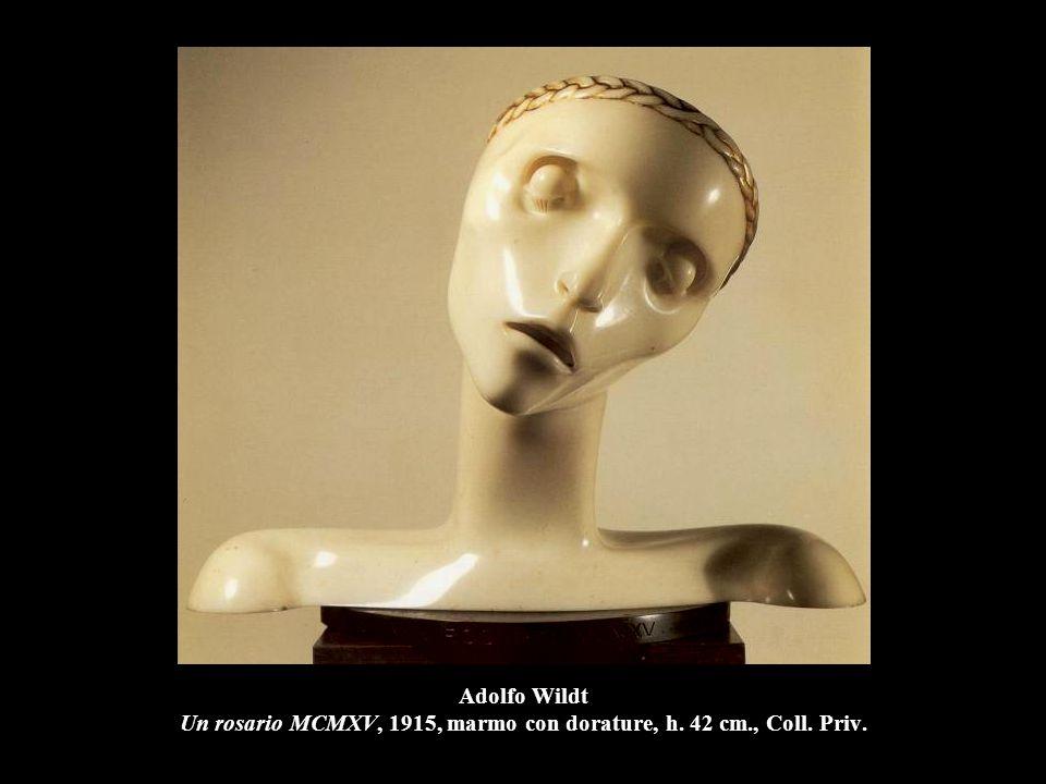 Adolfo Wildt Un rosario MCMXV, 1915, marmo con dorature, h. 42 cm