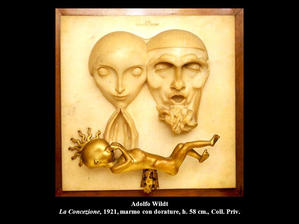 Adolfo Wildt La Concezione, 1921, marmo con dorature, h. 58 cm. , Coll