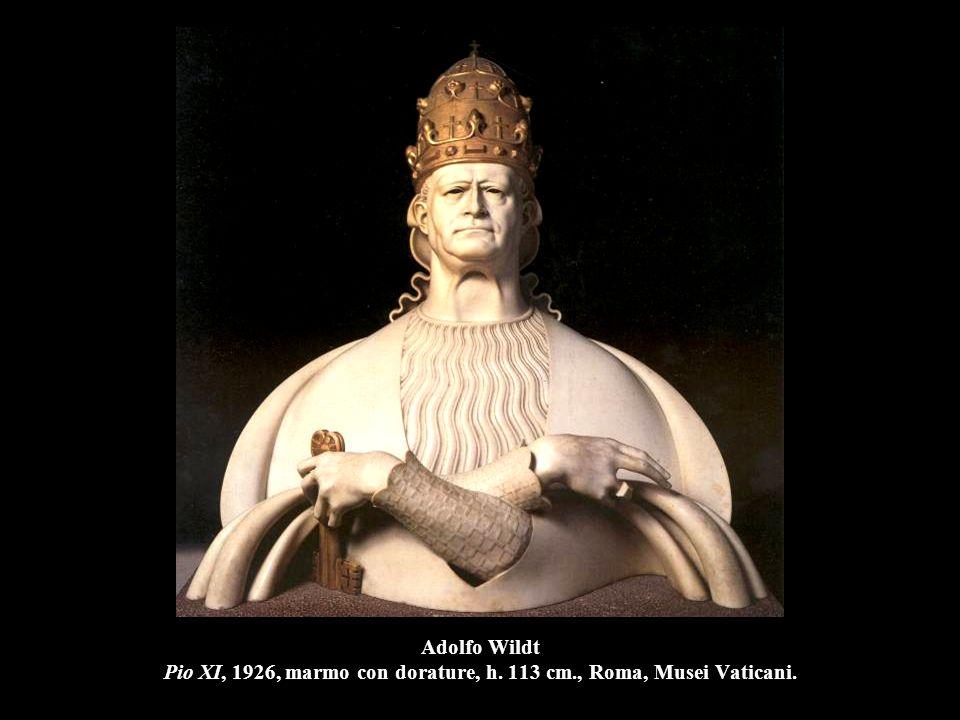 Adolfo Wildt Pio XI, 1926, marmo con dorature, h. 113 cm