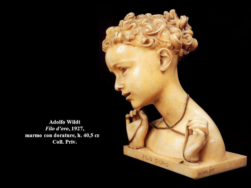 Adolfo Wildt Filo d'oro, 1927, marmo con dorature, h. 40,5 cm. , Coll