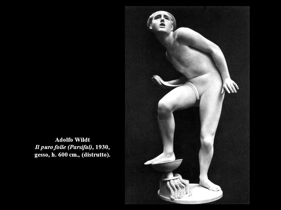 Adolfo Wildt Il puro folle (Parsifal), 1930, gesso, h. 600 cm