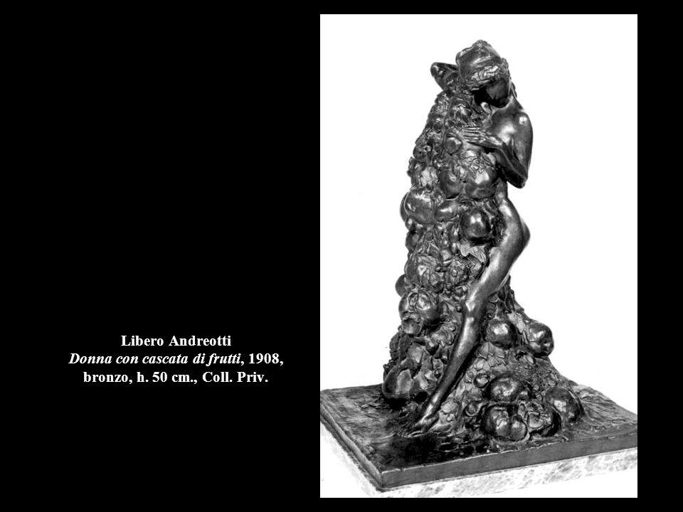 Libero Andreotti Donna con cascata di frutti, 1908, bronzo, h. 50 cm