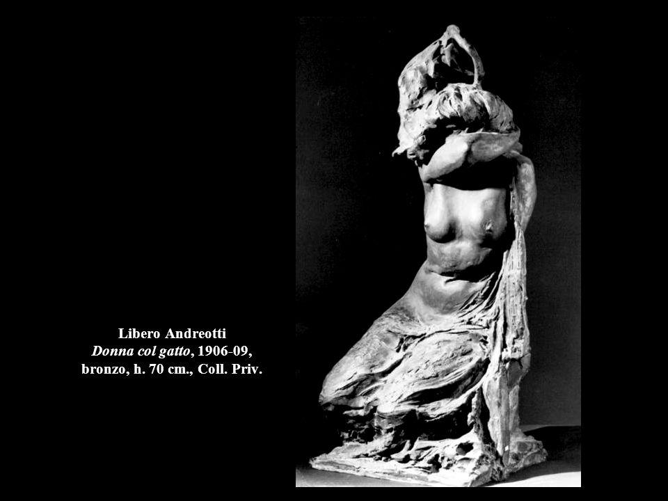 Libero Andreotti Donna col gatto, 1906-09, bronzo, h. 70 cm. , Coll