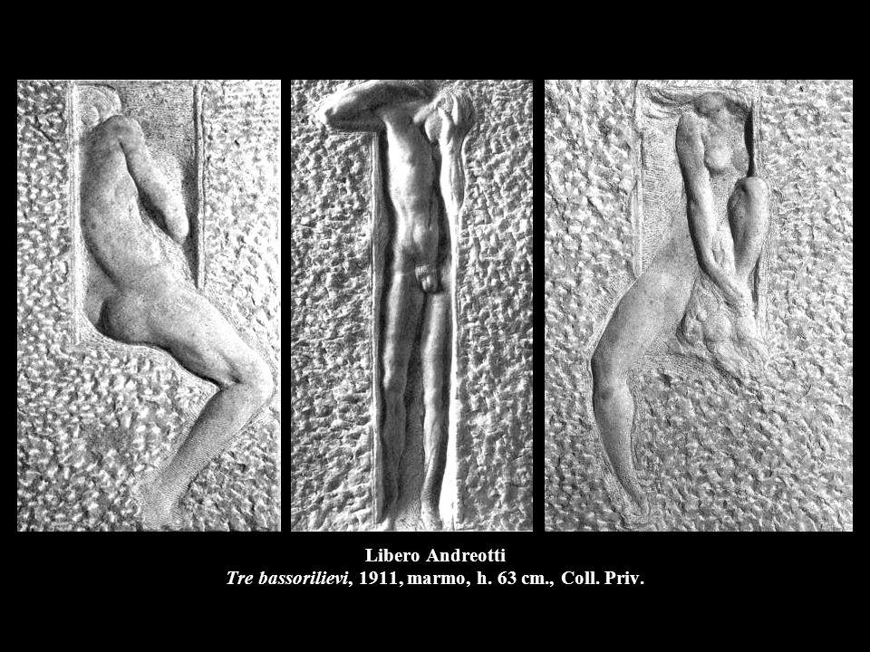 Libero Andreotti Tre bassorilievi, 1911, marmo, h. 63 cm., Coll. Priv.