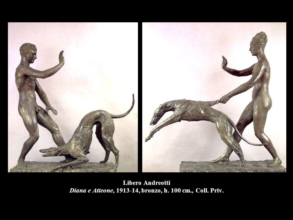 Libero Andreotti Diana e Atteone, 1913-14, bronzo, h. 100 cm. , Coll