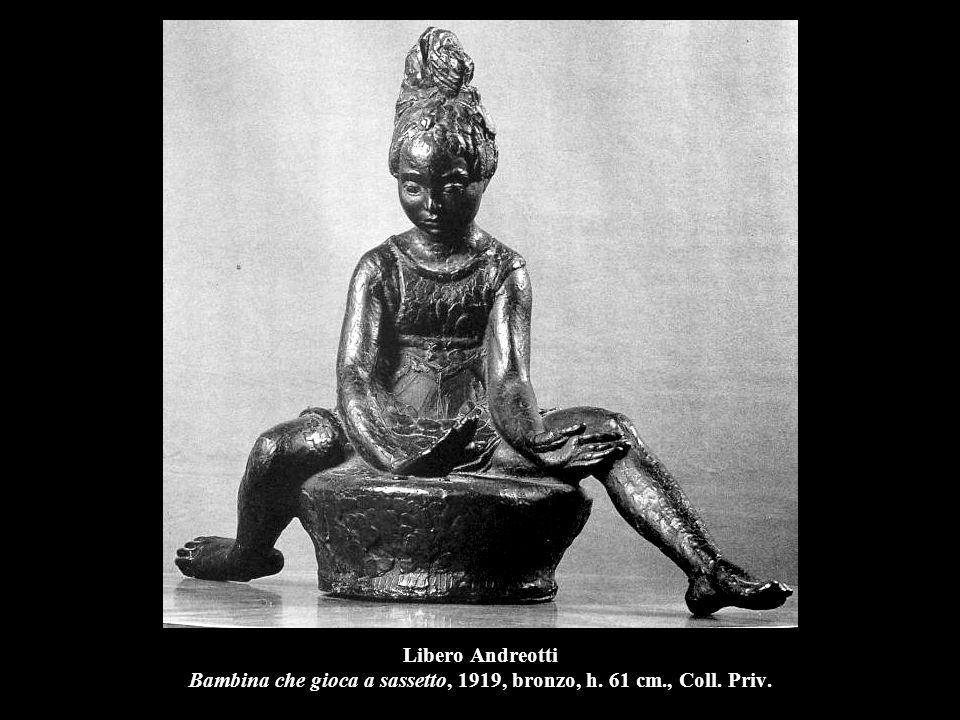 Libero Andreotti Bambina che gioca a sassetto, 1919, bronzo, h. 61 cm
