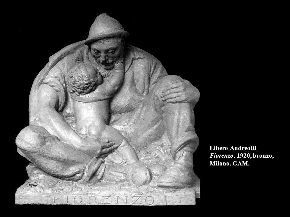 Libero Andreotti Fiorenzo, 1920, bronzo, Milano, GAM.