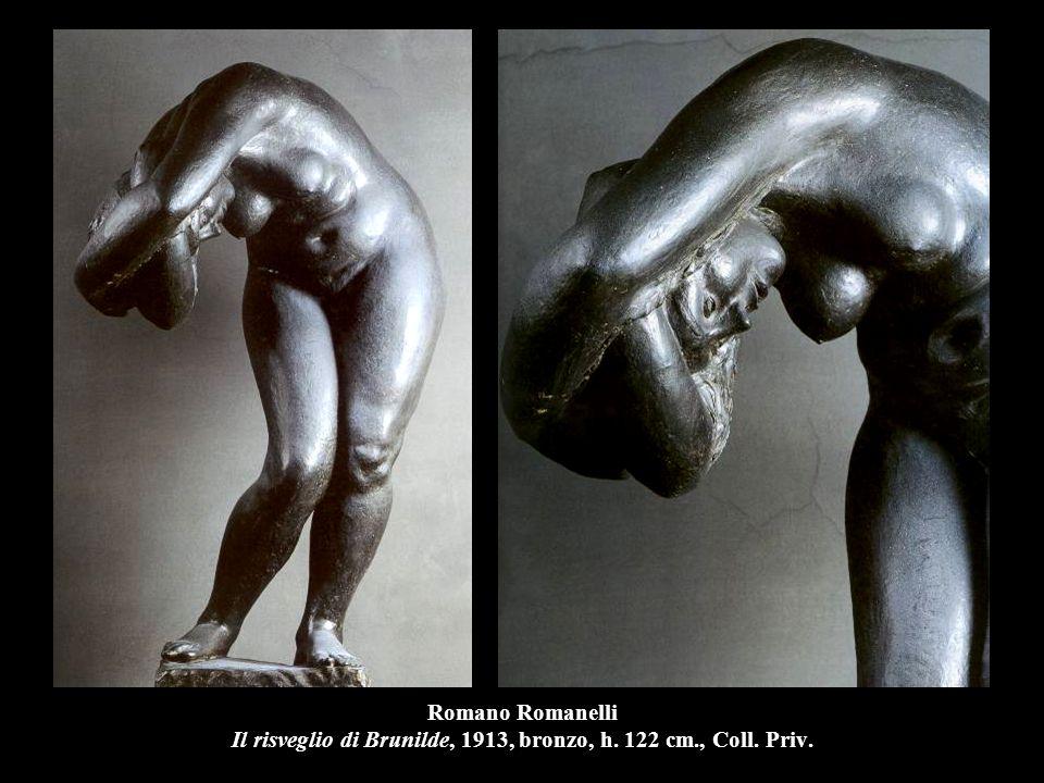 Romano Romanelli Il risveglio di Brunilde, 1913, bronzo, h. 122 cm