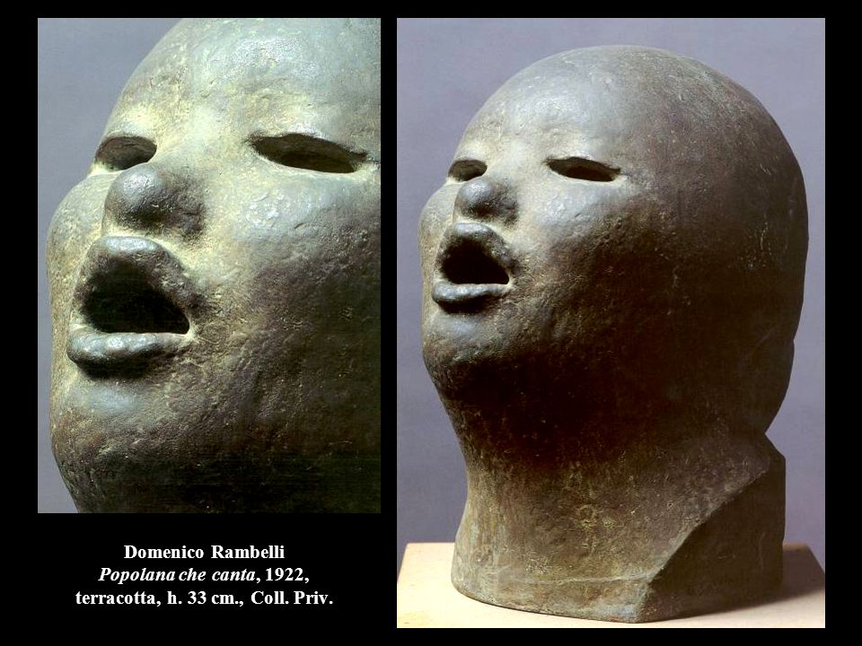 Domenico Rambelli Popolana che canta, 1922, terracotta, h. 33 cm