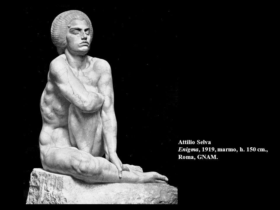 Attilio Selva Enigma, 1919, marmo, h. 150 cm., Roma, GNAM.