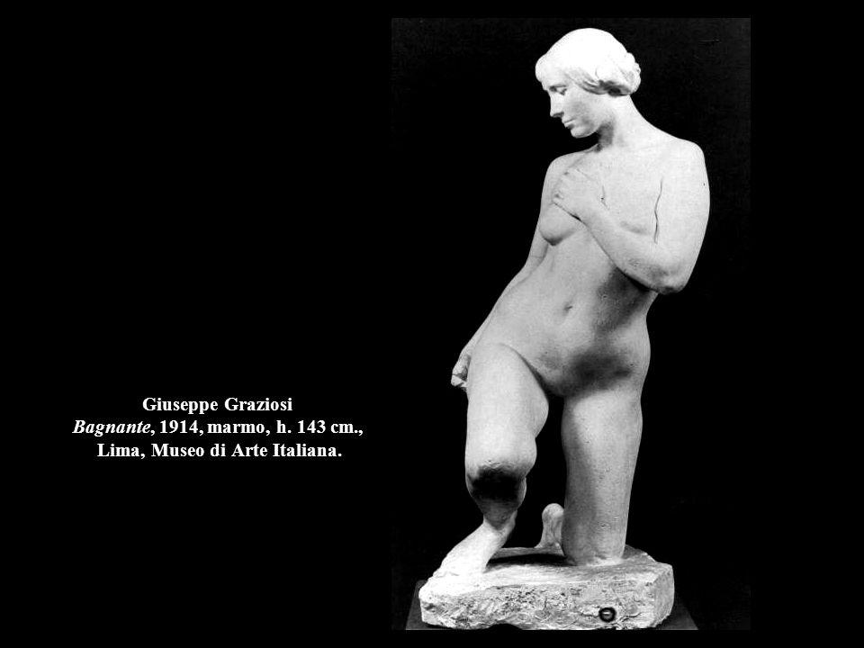Giuseppe Graziosi Bagnante, 1914, marmo, h. 143 cm