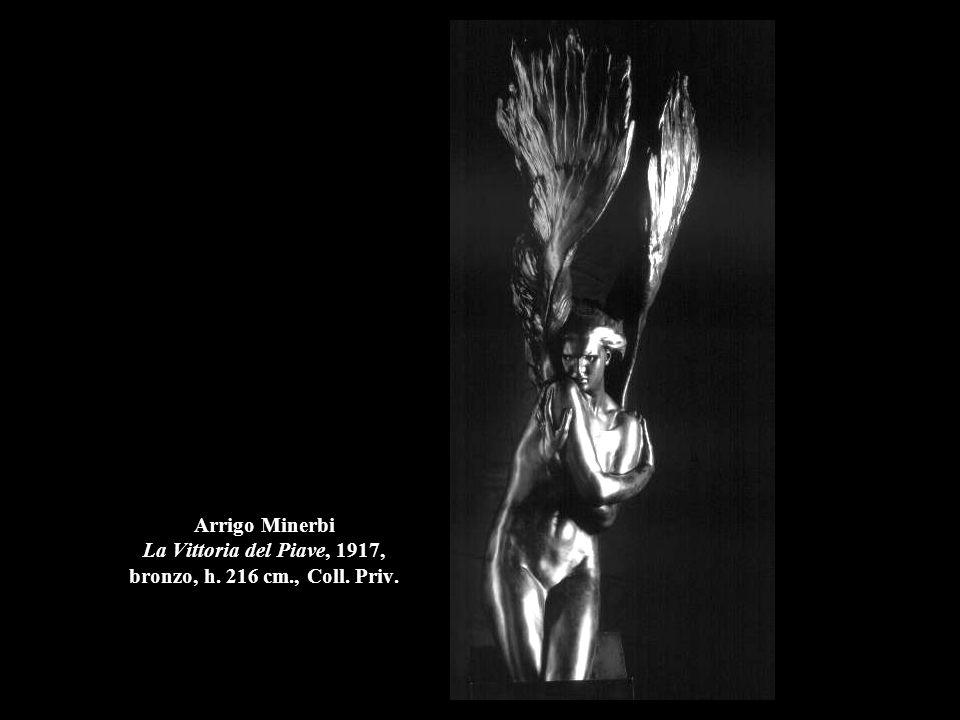 Arrigo Minerbi La Vittoria del Piave, 1917, bronzo, h. 216 cm. , Coll