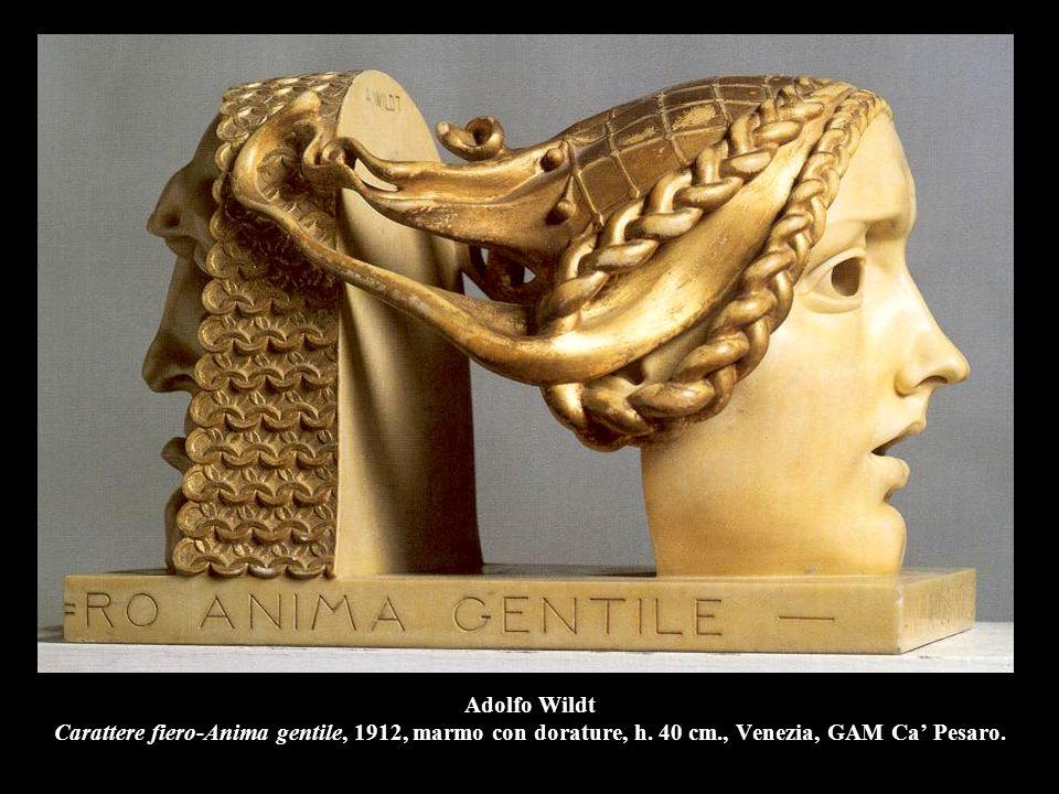 Adolfo Wildt Carattere fiero-Anima gentile, 1912, marmo con dorature, h.