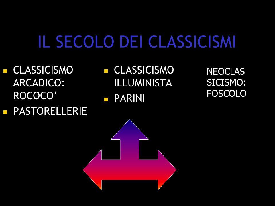 IL SECOLO DEI CLASSICISMI