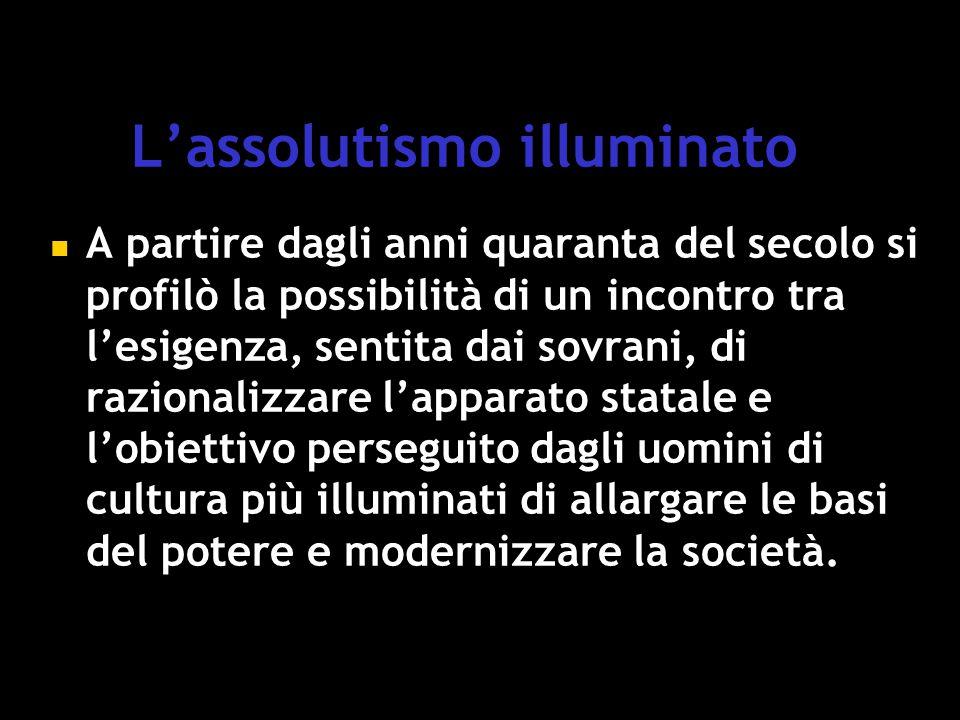 L'assolutismo illuminato
