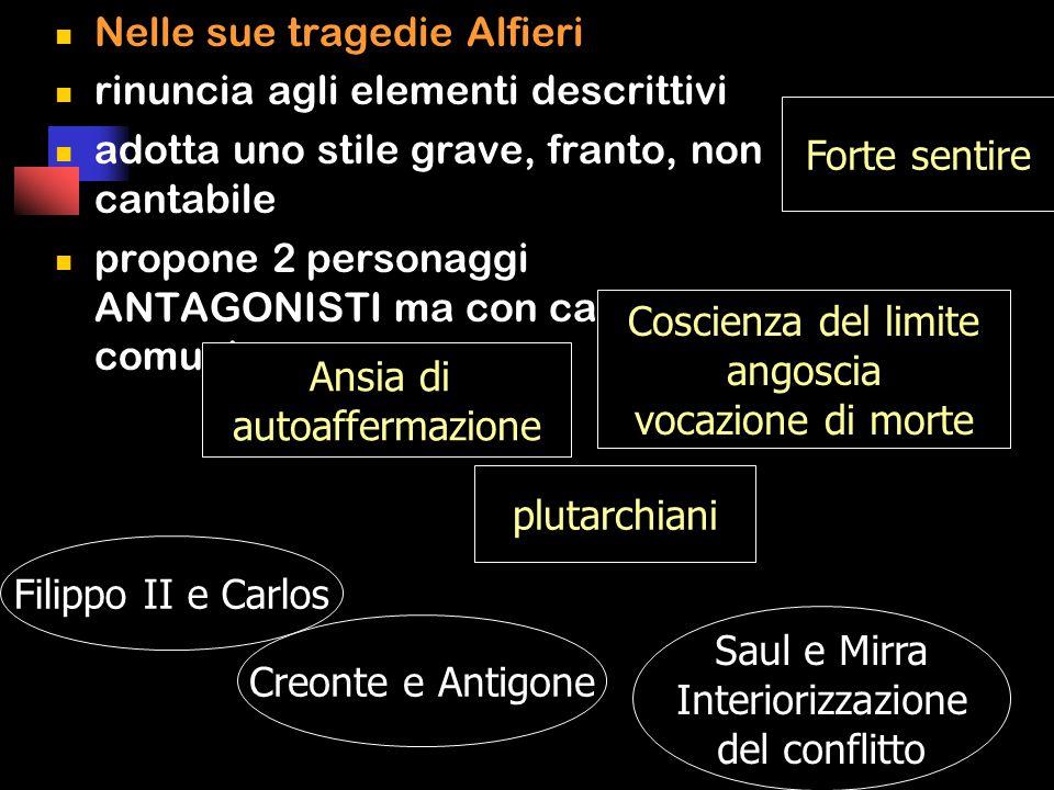 Nelle sue tragedie Alfieri