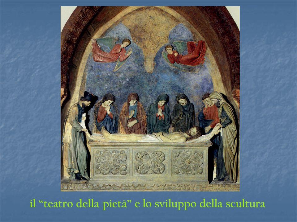 il teatro della pietà e lo sviluppo della scultura