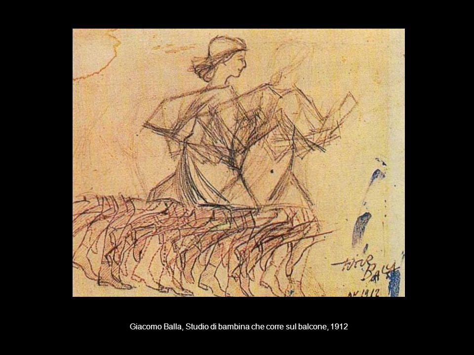 Giacomo Balla, Studio di bambina che corre sul balcone, 1912
