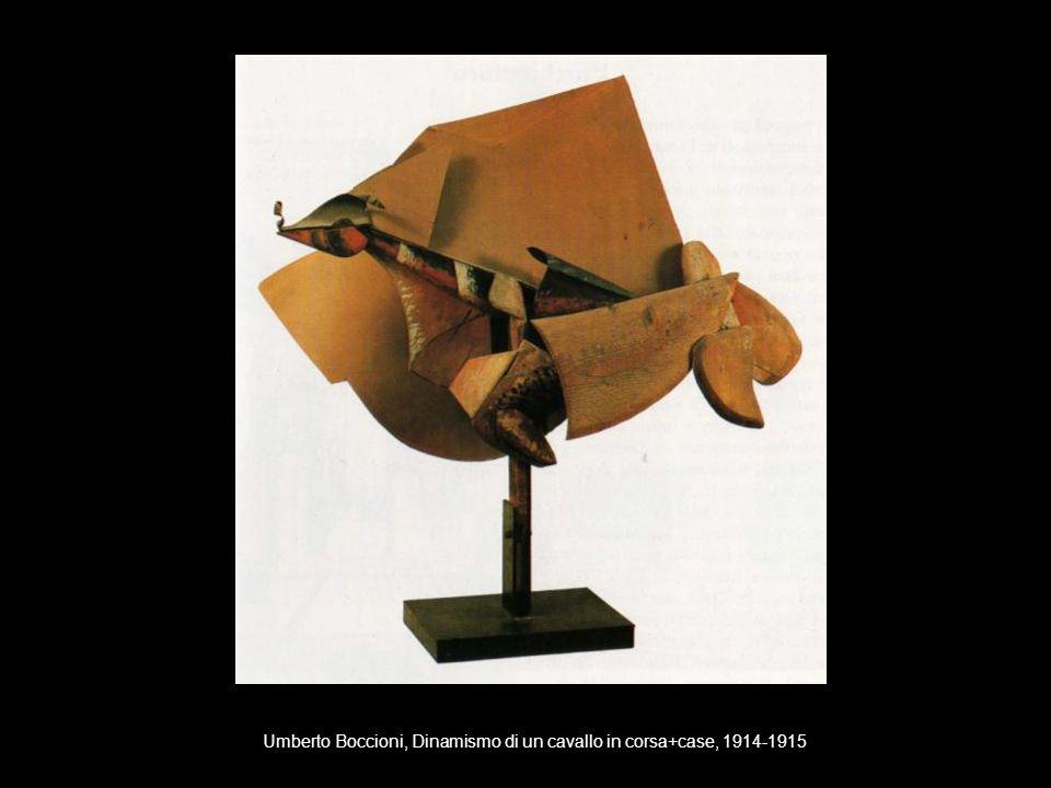 Umberto Boccioni, Dinamismo di un cavallo in corsa+case, 1914-1915