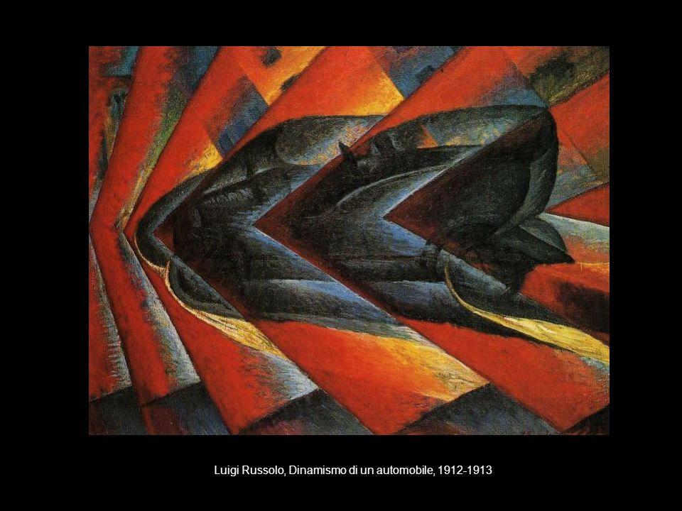 Luigi Russolo, Dinamismo di un automobile, 1912-1913