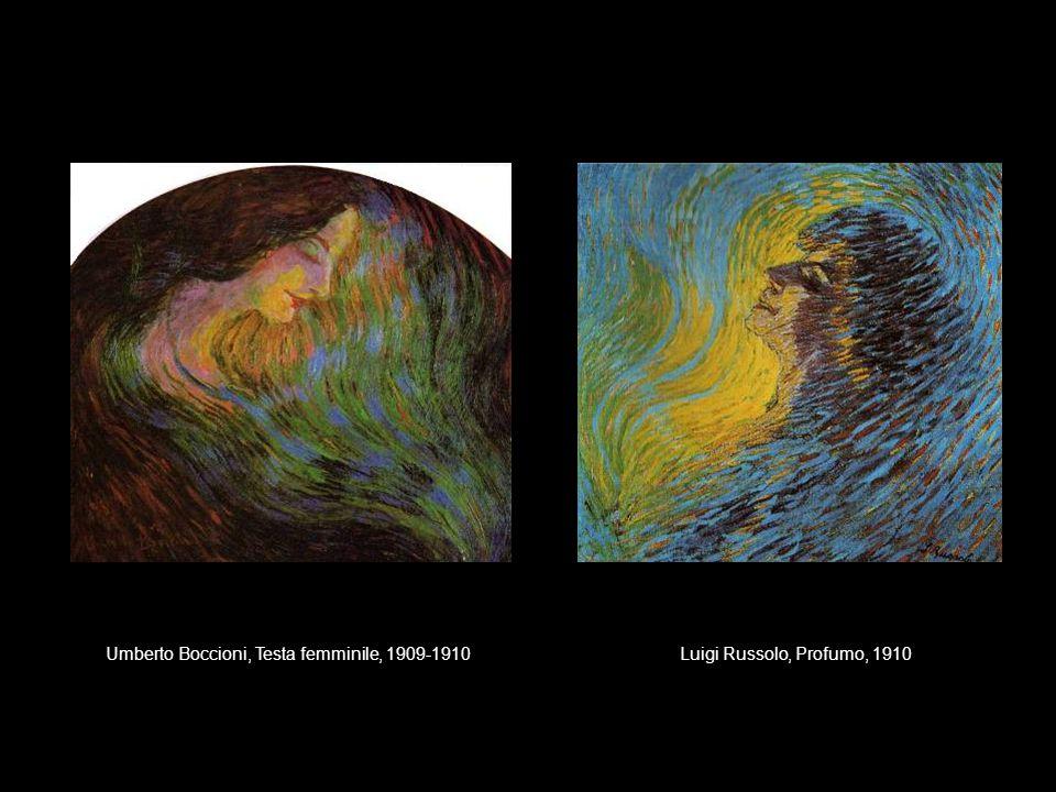 Umberto Boccioni, Testa femminile, 1909-1910