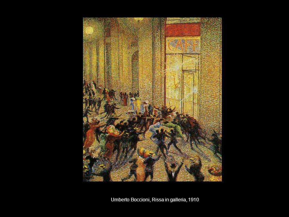 Umberto Boccioni, Rissa in galleria, 1910