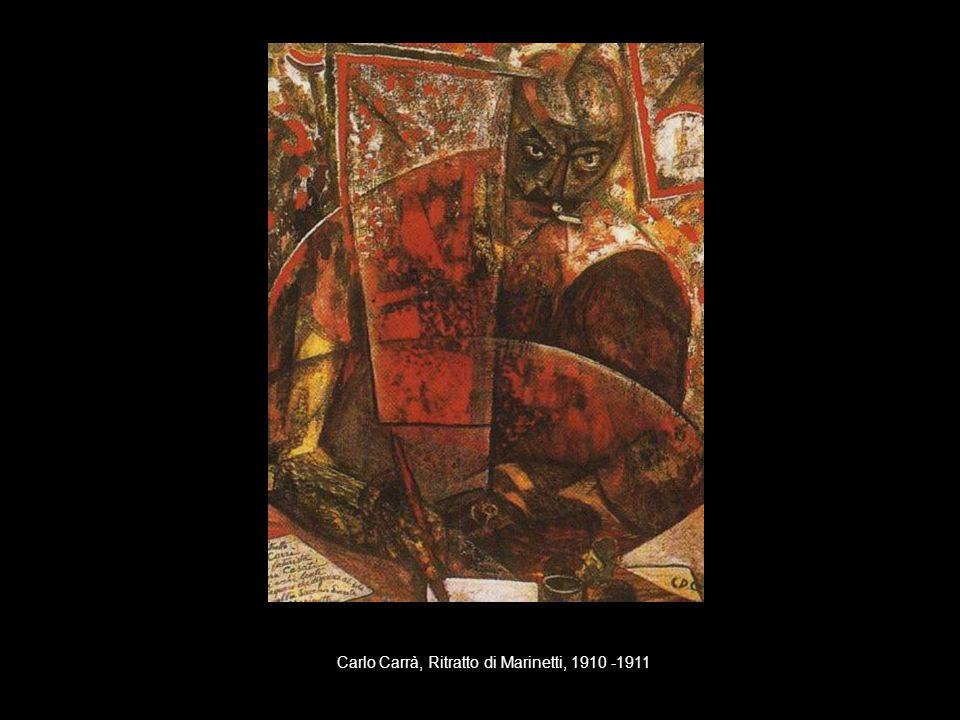 Carlo Carrà, Ritratto di Marinetti, 1910 -1911