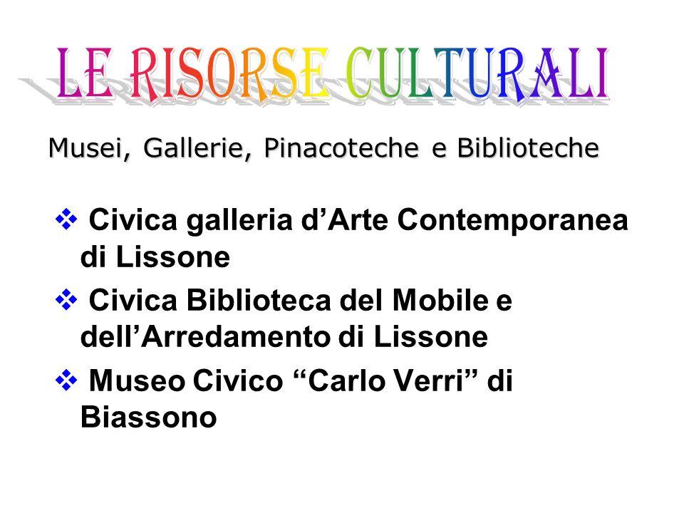 LE RISORSE CULTURALI Civica galleria d'Arte Contemporanea di Lissone