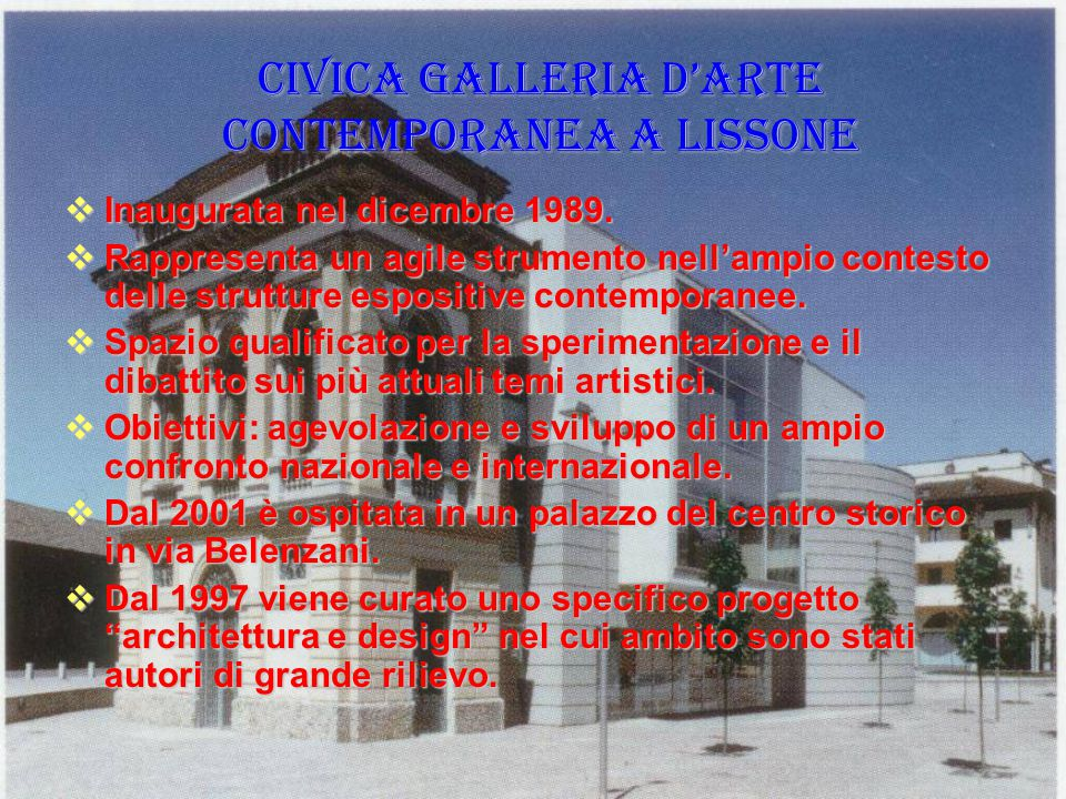 CIVICA GALLERIA D'ARTE CONTEMPORANEA A LISSONE