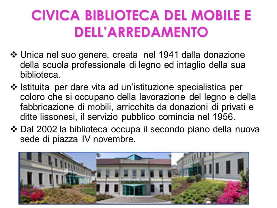 CIVICA BIBLIOTECA DEL MOBILE E DELL'ARREDAMENTO