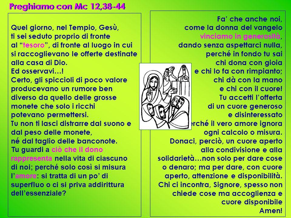 Preghiamo con Mc 12,38-44