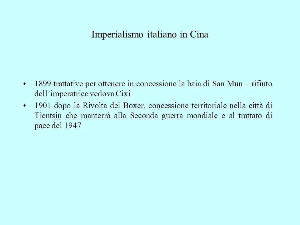 Imperialismo italiano in Cina