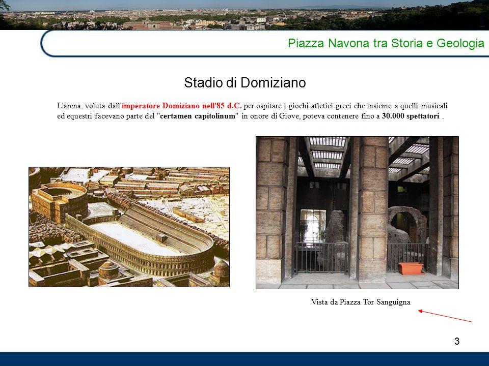 Stadio di Domiziano Piazza Navona tra Storia e Geologia