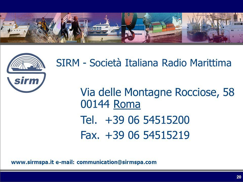 SIRM - Società Italiana Radio Marittima