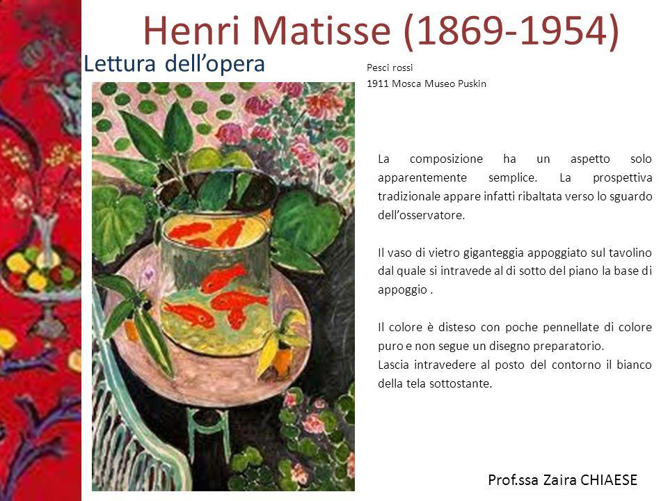 Henri Matisse (1869-1954) Lettura dell'opera