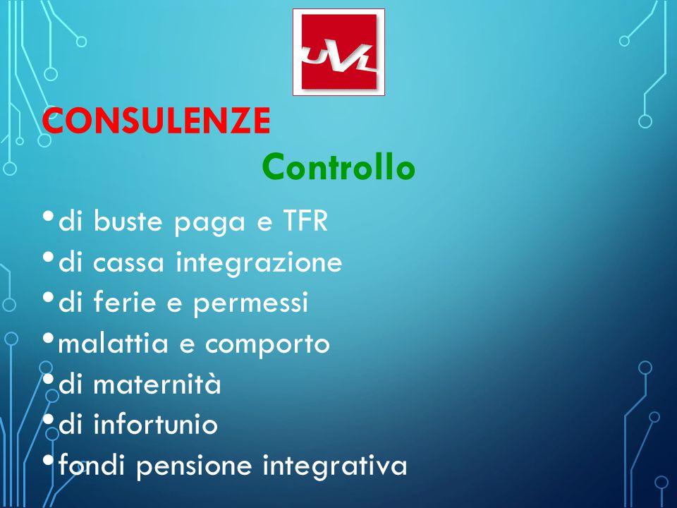 Controllo Consulenze di buste paga e TFR di cassa integrazione