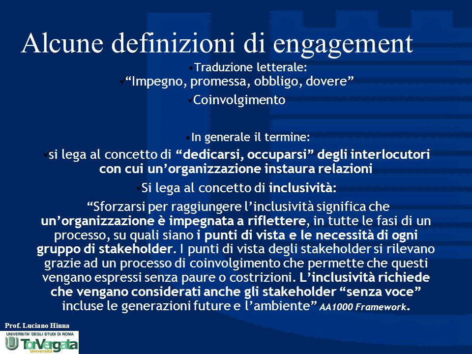 Alcune definizioni di engagement