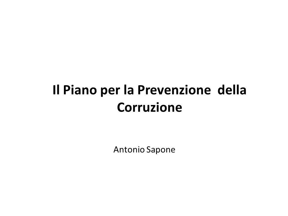 Il Piano per la Prevenzione della Corruzione