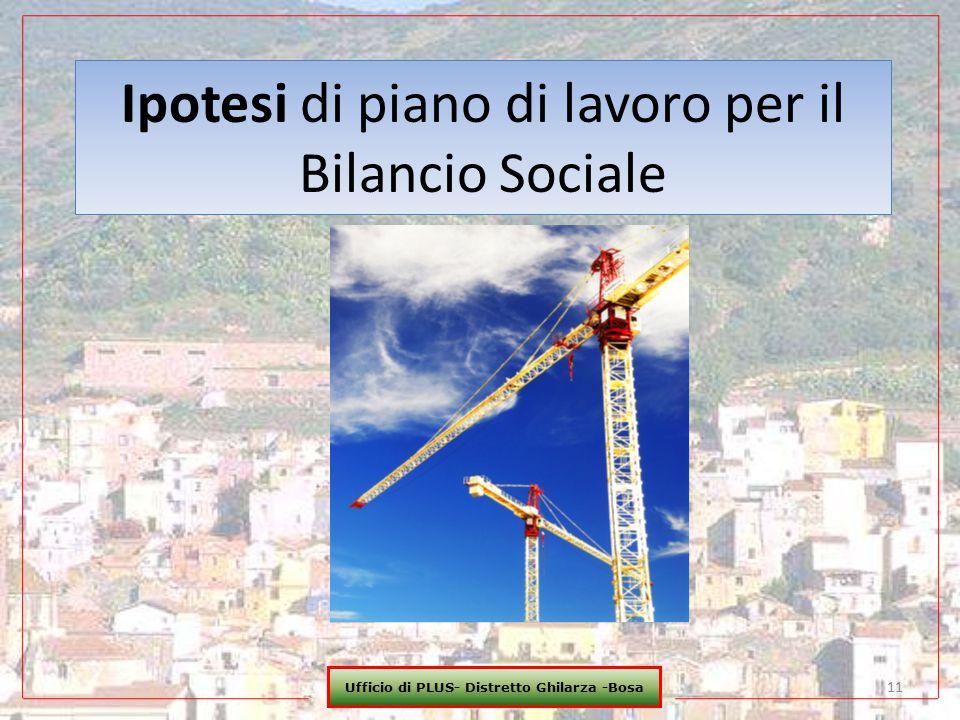 Ipotesi di piano di lavoro per il Bilancio Sociale