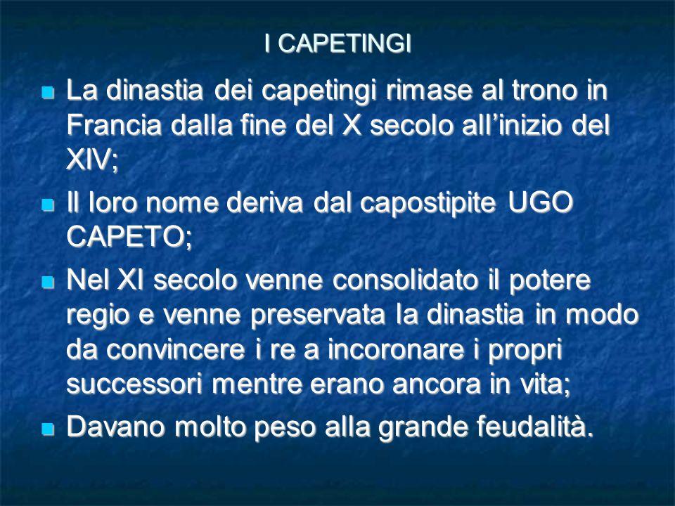 Il loro nome deriva dal capostipite UGO CAPETO;