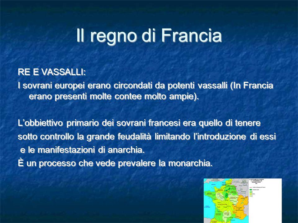 Il regno di Francia RE E VASSALLI: