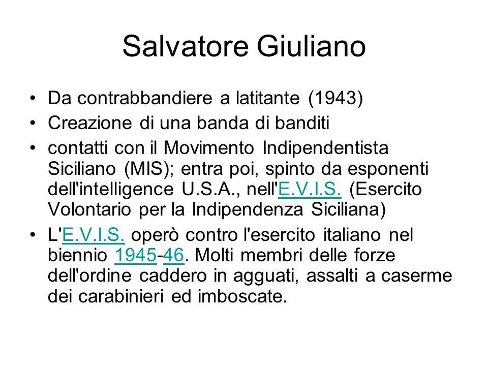 Salvatore Giuliano Da contrabbandiere a latitante (1943)