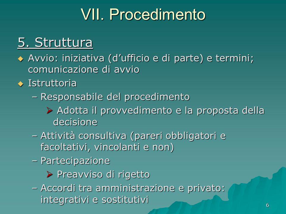 VII. Procedimento 5. Struttura