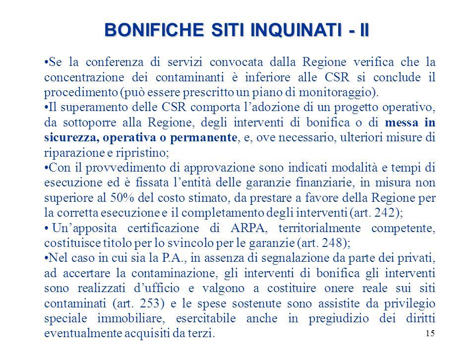 BONIFICHE SITI INQUINATI - II