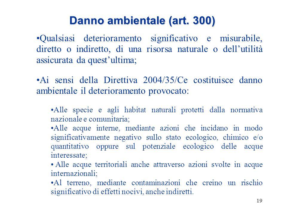 Danno ambientale (art. 300)